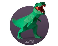 T-Rex Papercraft Kit Físico DIY