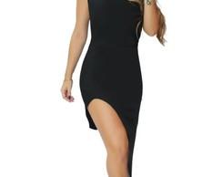 Vestido Com Fenda Na Perna Elo7