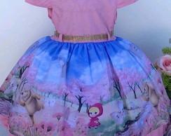 Vestido Masha E O Urso Luxo Elo7