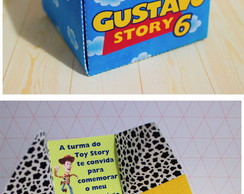 Arquivo Silhouette convite cuboToy Story