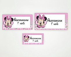 Digital - Etiqueta Escolar Minnie