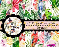 Kit Scrapbook Digital Tropical papel