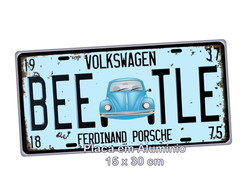 #Placa de Carro Decorativa Retro - BEEATLE