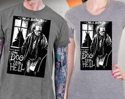 Camiseta Charles Bukowski Blusa The Dog From Hell Baby Long