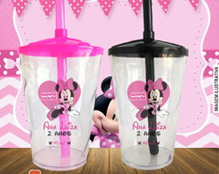Copo twister Minnie Mouse Rosa - 500 ml