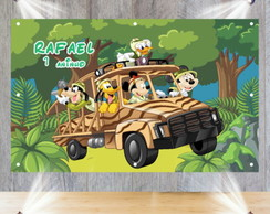 Painel 1,50 x 1,00m - Turma do Mickey Safari