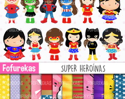 Kit Digital - Super Heroínas