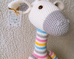 Belas Artes Crochê e Cia: Girafa Colorida Amigurumi | 194x244
