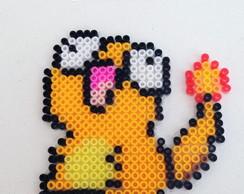 Chaveiro Derpy Pokemon Pikachu Pixel Art no Elo7 | Hama Mama