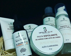 Kit Completo De Limpeza De Pele (Natural e Clareador)