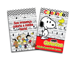 Revista colorir Snoopy 14x10