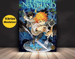 Placa decorativa The Promised Neverland Anime MDF 20x28cm