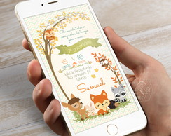 Convite Digital para Whatsapp - Woodland
