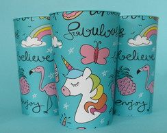 Kit 10 Copos Personalizados 550ml Unicornio
