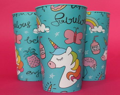 Kit 15 Copos Personalizados 550ml Unicornio