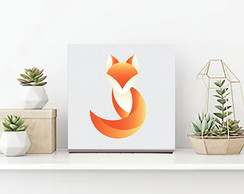 Quadro Raposa Minimalista Decorativo Home Office ou Sala
