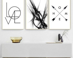 Quadro - Love, Home e Abstrato