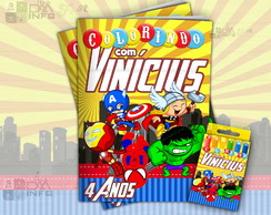 Kit Colorir Vingadores