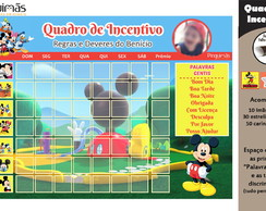 Quadro de Incentivo Turma do Mickey A4
