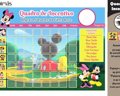 Quadro de Incentivo Minnie e Mickey A4