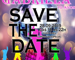 Convite virtual Save The Date - Balada