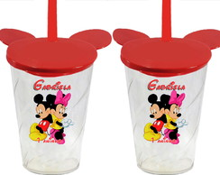 Copo Tampa Orelha Mickey e Minnie - Copo Mickey e Minnie