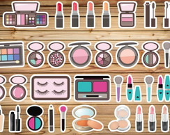 Tags, toppers, topos doces - Maquiagem Make Up ou outro tema