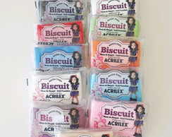 Kit 12 Massa Biscuit 90g Acrilex