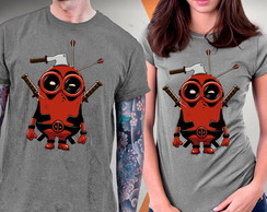 Camiseta Deadpool 2 Minions Blusa Wade Wilson Cable