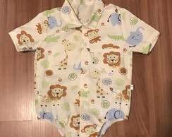 Body camisa infantil Safari