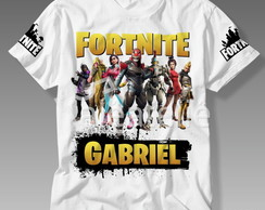 Camiseta Fortnite Battle Royale Personalizada com Nome
