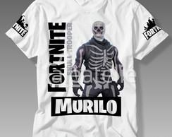 Camiseta Fortnite Skull Trooper Battle Royale Personalizada
