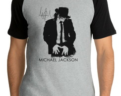 Camiseta Raglan Michael Jackson King Of Pop Rei Pop Trdc 1