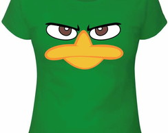 Camiseta Adulto/ Infantil/ Baby look - Perry o Ornitorrinco!
