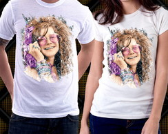 Camiseta Janis Joplin A Little Girl Blue Pearl Blusa Blues