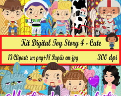 Kit Digital Toy Story 4 - Cute