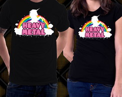 Camiseta Heavy Metal Unicórnio Blusa