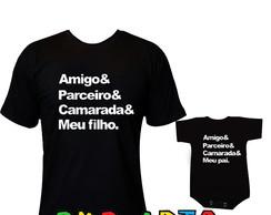 cbeb76cddcb9 Camiseta Amigo & Parceiro & Camarada & Meu Filho | Elo7