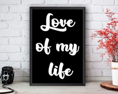 Quadro Queen - frase Love of my life