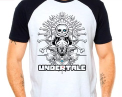 Camiseta Undertale V4 Jogo Game Rpg Raglan Manga Curta