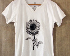 "T-shirt ""Black Girassol"""