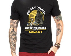 CAMISETA MASCULINA PAI E FILHOS BEST FRIENDS STAR WARS
