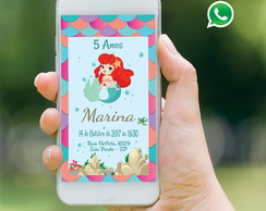 Convite Virtual Whatsapp - Sereia