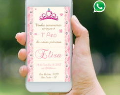Convite Virtual Whatsapp - Princesa