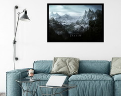 Quadro decorativo grande skyrim world rocks