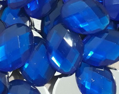 Chaton Oval 13x18mm Azul Royal 50 Unid