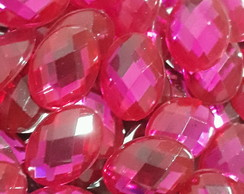 Chaton Oval Pink 13x18mm 50 Unid