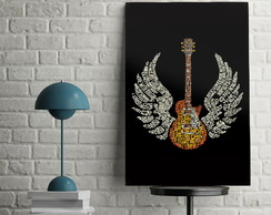 Quadro Decorativo Guitarra Rock 30x45