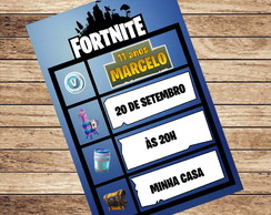 Convite Digital Fortnite