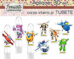 Tag ou aplique de 6cm para TUBETE Super Wings